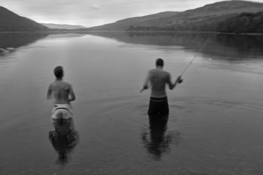 Fishing at Dusk in Loch Tay