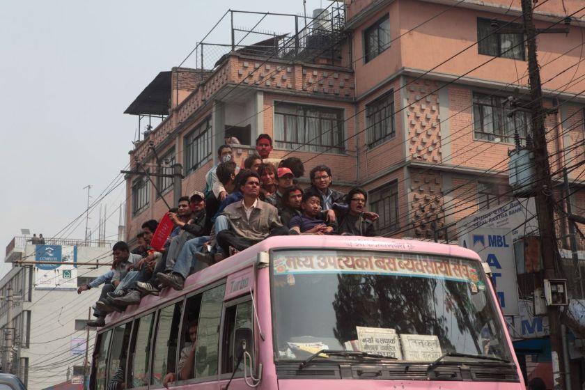 Student protestors, Kathmandu