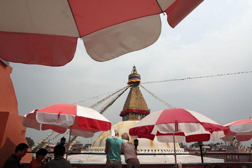 Overlooking the bodhnath, Kathmandu